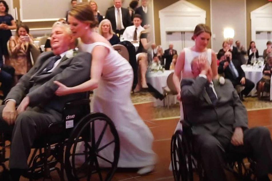 Braut tanzt auf Hochzeit mit ihrem Vater, der bald sterben wird