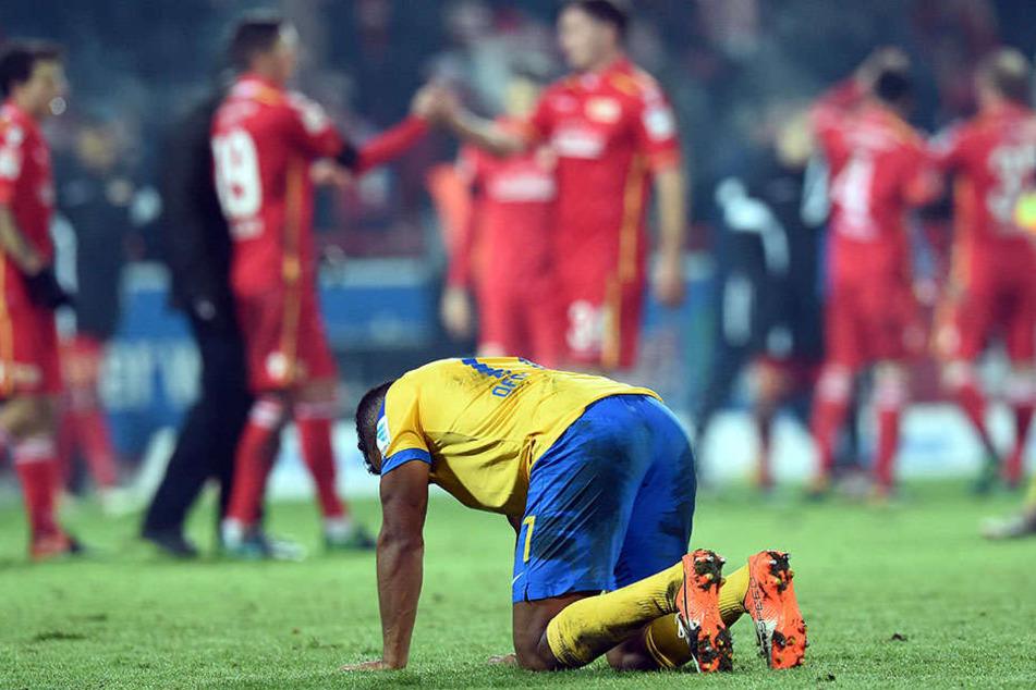 Braunschweig am Boden: Das Hinspiel gewannen die Köpenicker mit 2:0.