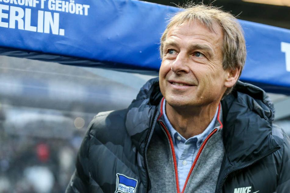Jürgen Klinsmann steht seit wenigen Wochen bei Hertha BSC an der Seitenlinie.