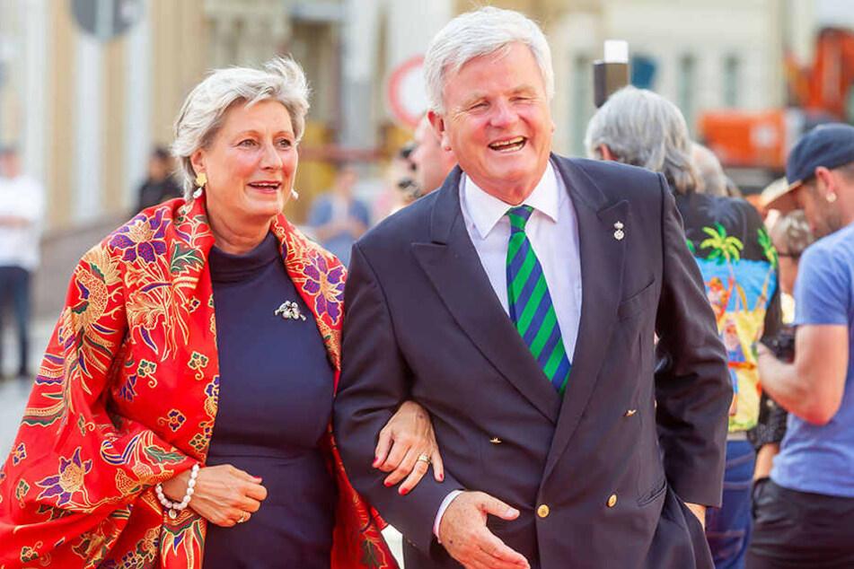 Schirmherrin Prinzessin Alexandra und Ehemann Prinz Georg zur Lippe.