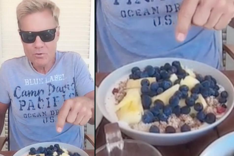 Bei Dieter gibt's jetzt jeden Morgen eine Müsli-Bowl.
