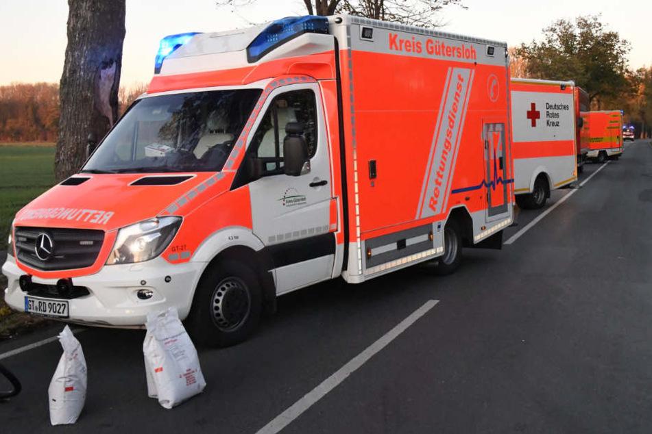 Gleich mehrere Rettungswagen wurden zur Unfallstelle gerufen.