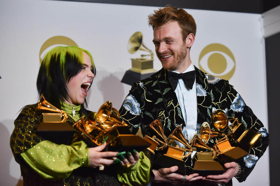 Dream Team: Billie Eilish and Finneas at last year's Grammy Awards where they bagged the top four awards in one night.