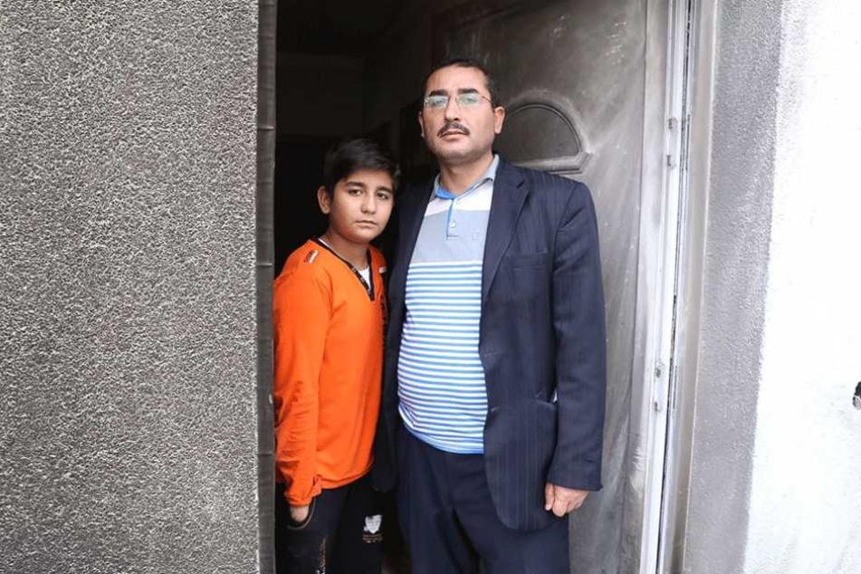 Imam Hamza Turan und sein Sohn Ibrahim Ismail Turan (10) waren zum Anschlagzeitpunkt in dem Gebäude.