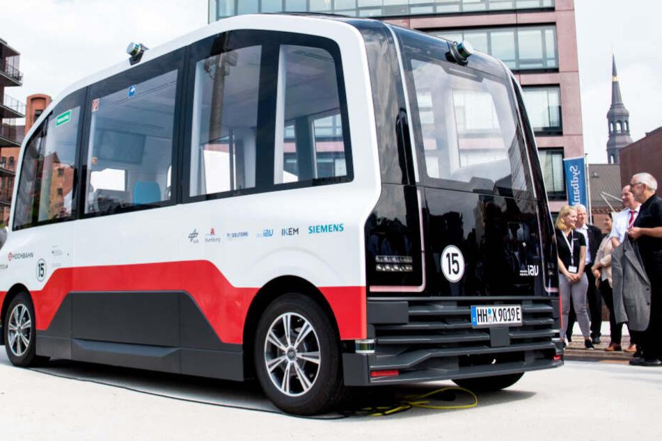 Diesem fahrerlosen Bus könnt Ihr jetzt in Hamburg begegnen