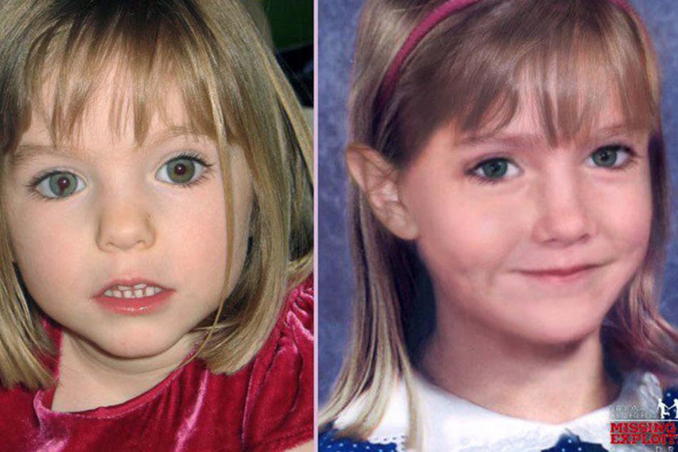 Bilder auf dem Fahndungsplakat nach Maddie. So könnte sie im Alter von 6 Jahren ausgesehen haben.