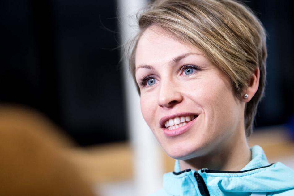 Magdalena Neuner ist mit einigen Aspekten nicht wirklich zufrieden.