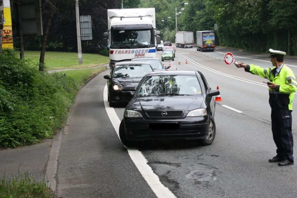 Zahlreiche Autos kontrollierte die Polizei am Mittwoch.