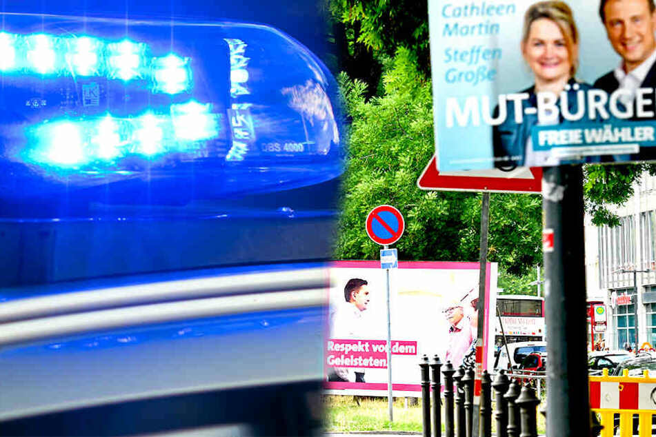In der Dresdner Innenstadt hängen schon viel Wahlplakate. An der Erfuter Straße wurden sie gestern Abend angebracht.