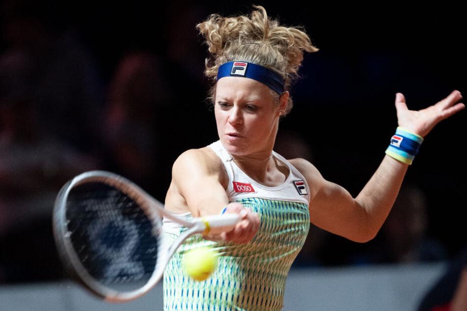 Siegemund beim WTA-Turnier in Stuttgart.