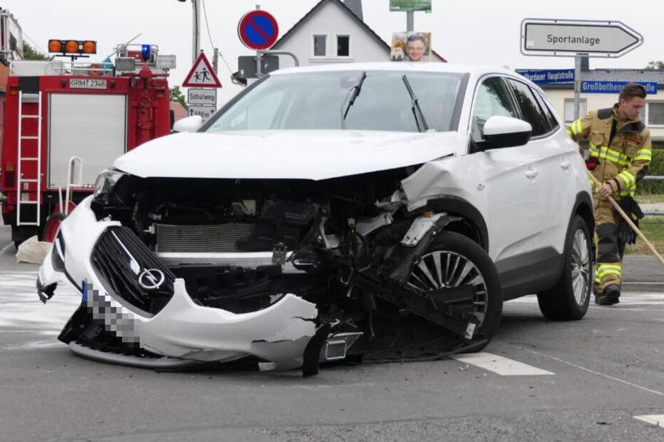 Offenbar hatte der Opel Grandland X die Vorfahrt des VW Polo missachtet.