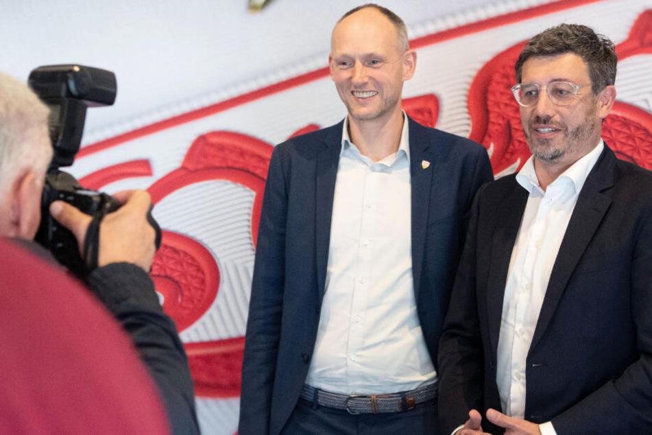 Schwer zu sagen, wer von den beiden den besseren Eindruck machte: Christian Riethmüller (l.) und Claus Vogt (r.) wollen Präsident des VfB Stuttgart werden.