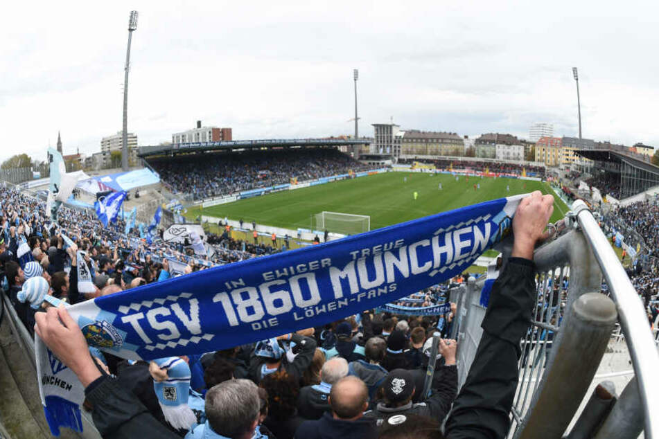 Fans des TSV 1860 München im Grünwalder Stadion.
