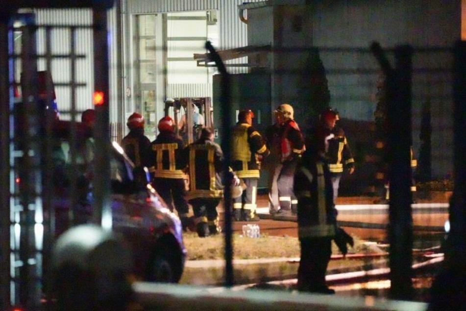 Am Donnerstagabend brannte es in der Glasfabrik Stölzle.