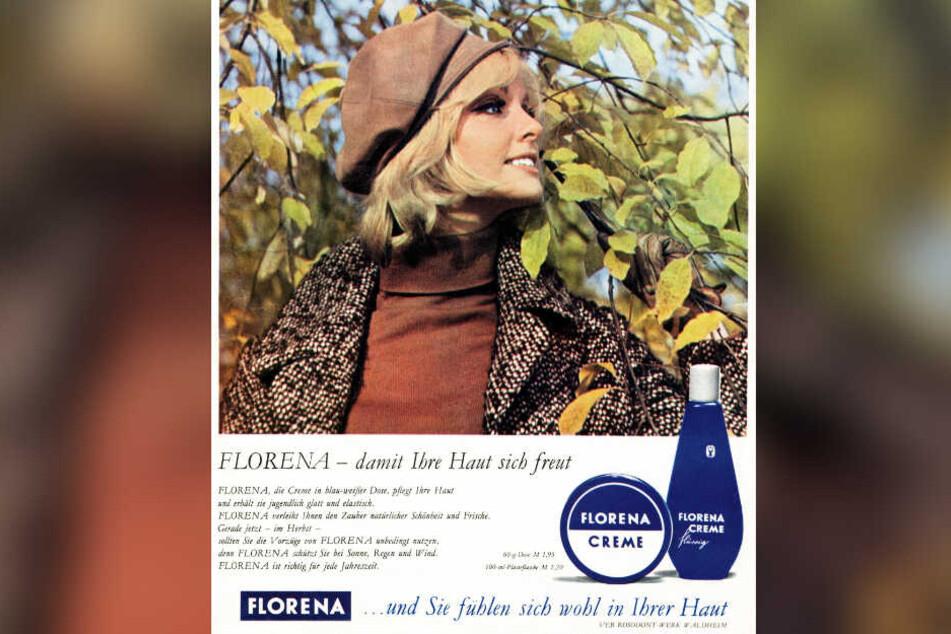 So warb Florena Waldheim 1970 für die Ost-Hautcreme schlechthin.
