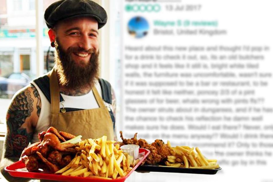 Gast hinterlässt fiese Bewertung: So cool reagiert der Restaurant-Besitzer!