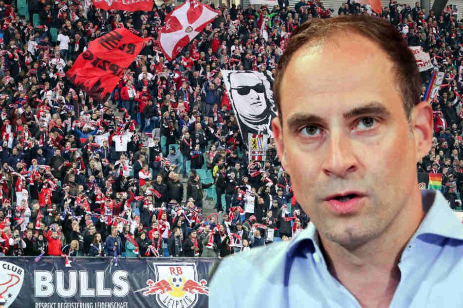 Geschäftsführer Oliver Mintzlaff schaltet sich in den Fan-Zoff beim Fußball-Bundesligisten RB Leipzig ein.