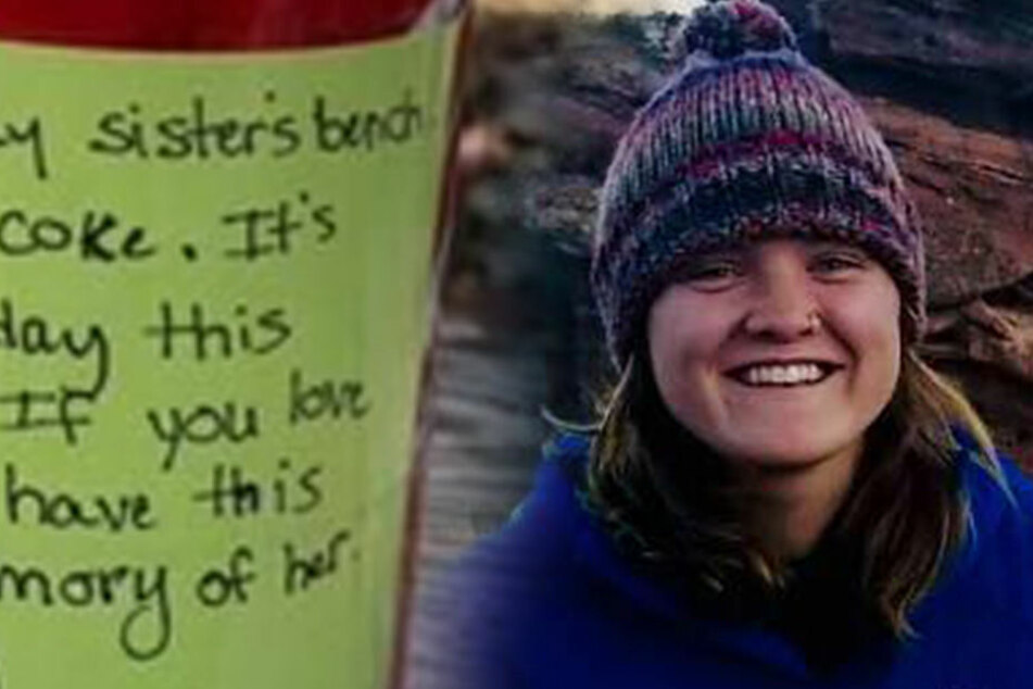 Frau findet bei Wanderung einen Zettel und kann nicht aufhören zu weinen