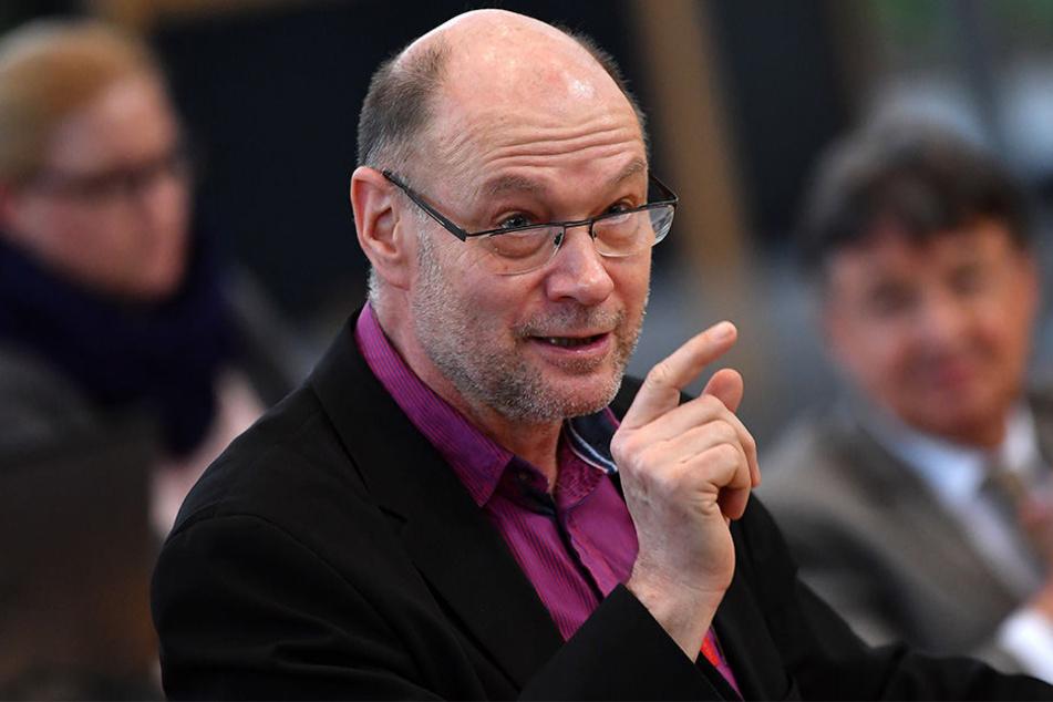 Frank Kuschel bei einer Landtagssitzung des Thüringer Landtages im März, 2017.