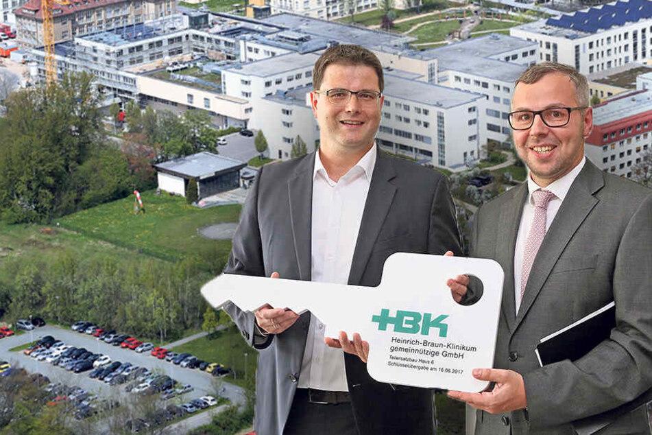 Größter Arbeitgeber der Region: Klinikum Zwickau hat jetzt sein neues Herz