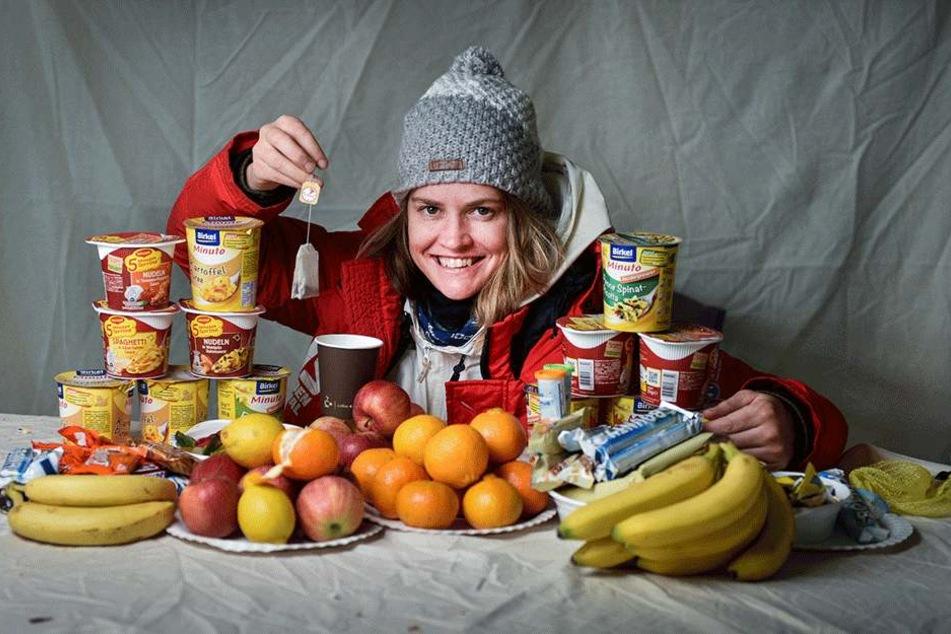 Eiskünstlerin Charlotte Koster (40) muss viel futtern, weil ihr Körper bei frostigen Temperaturen auf Hochtouren fährt.