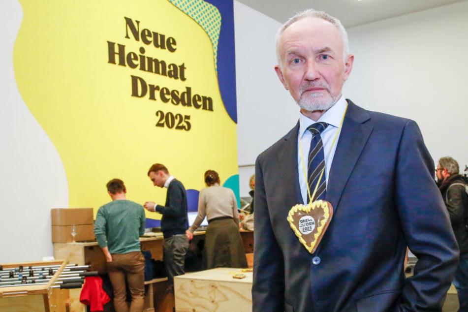 Professor Klaus Vogel (62) ist Direktor des Hygiene-Museums und war Gastgeber im Showroom.