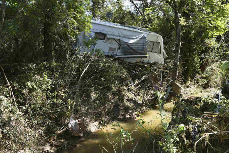 Vergangene Woche wurde der Zeltplatz in Südfrankreich bei heftigen Überschwemmungen verwüstet.