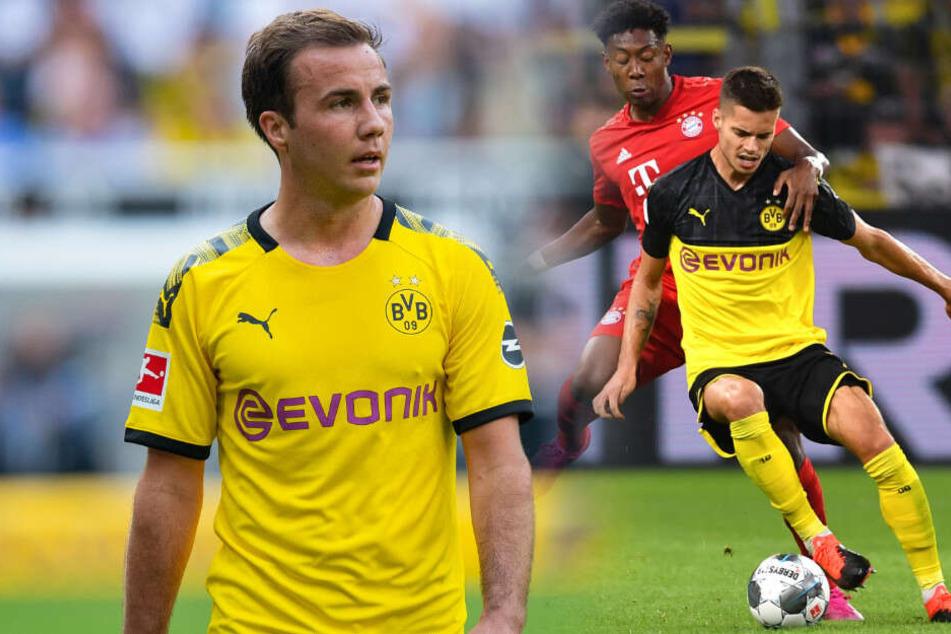 Holt sich Hertha BSC im Winter Julian Weigl (r) und im Sommer Mario Götze?
