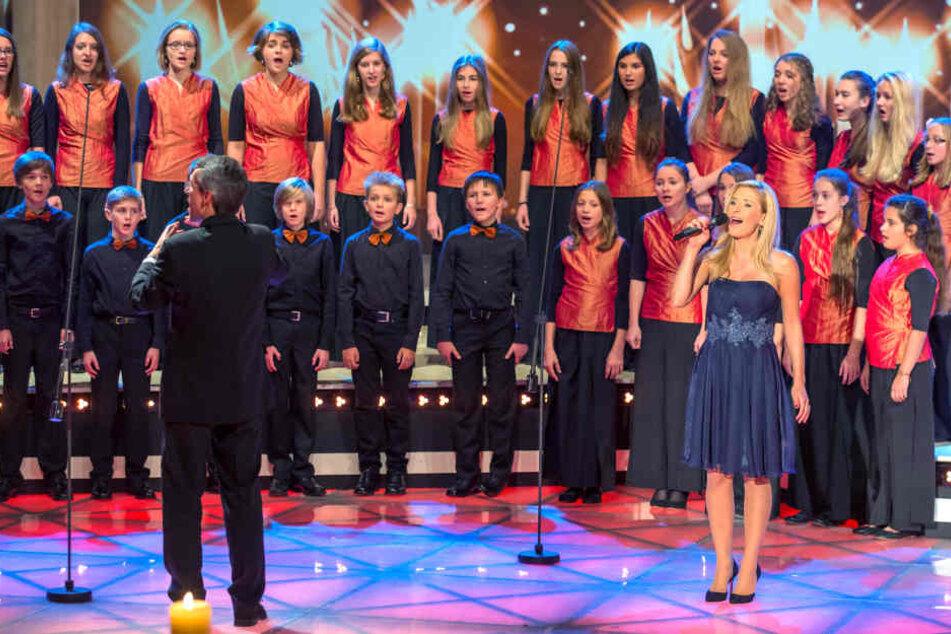 Auch mit Stefanie Hertel stand der MDR Kinderchor schon auf der Bühne.
