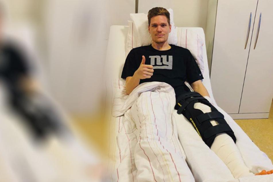 Marcel Halstenberg (26) vermeldet seine erfolgreiche Knie-OP.