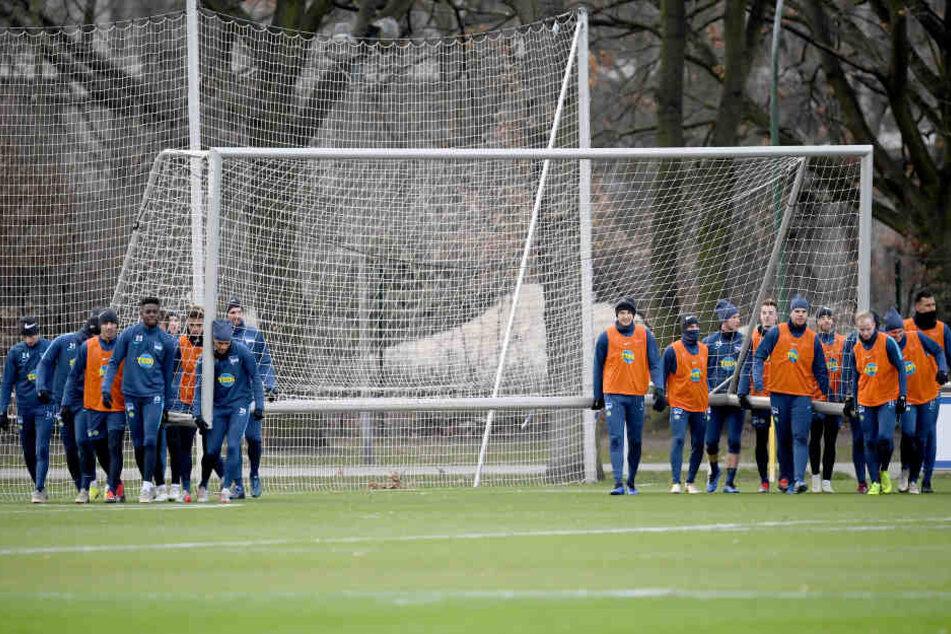 Geschlossenheit: Hertha BSC ist zurück aus der Winterpause.