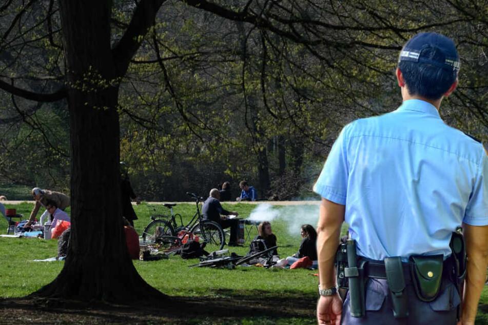 Der sexuelle Übergriff soll in einem Park stattgefunden haben. (Symbolbild / Bildcollage)
