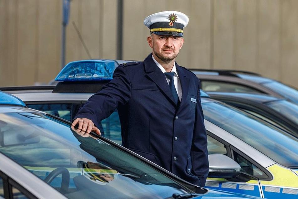 Der neue Chef der Verkehrspolizeiinspektion, Gerald Baier (40), freut sich auf die neue Herausforderung.
