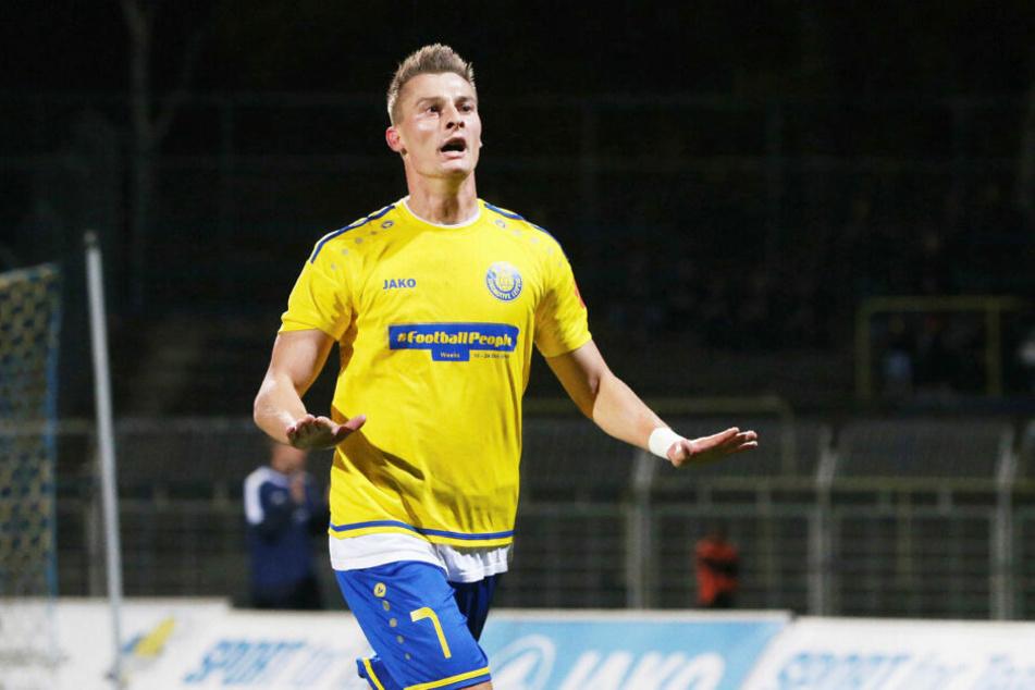 Matthias Steinborn traf in der 38. Minute zum 2:0. Sein sechstes Ligator, in den letzten fünf Pflichtpartien traf er immer. (Archivbild)