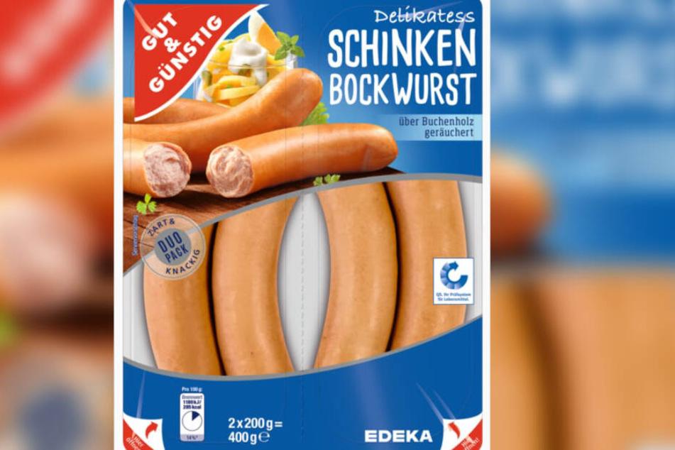 Kann Spuren von Käse enthalten: Die Schinkenbockwurst von Edeka