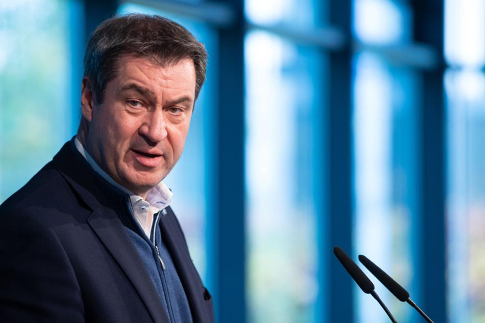 Bayerns Ministerpräsident Markus Söder wirbt für eine Verlängerung des sogenannten Lockdowns. (Archiv)