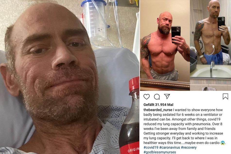 Mike Schultz wurde viereinhalb Wochen lang auf der Intensivstation eines Krankenhauses intubiert.