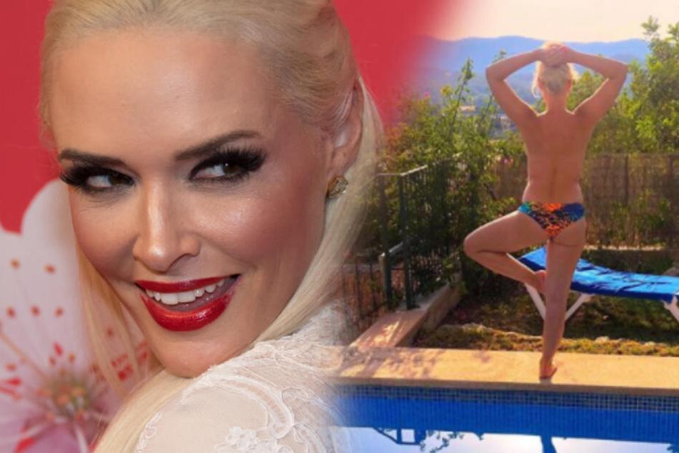 Voll im A...: Das macht Daniela Katzenberger mit der Badehose ihres Mannes!