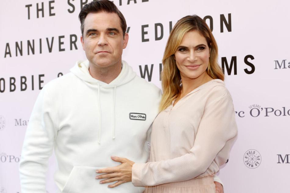 Robbie Williams und seine Frau Ayda Field 2017 in München.