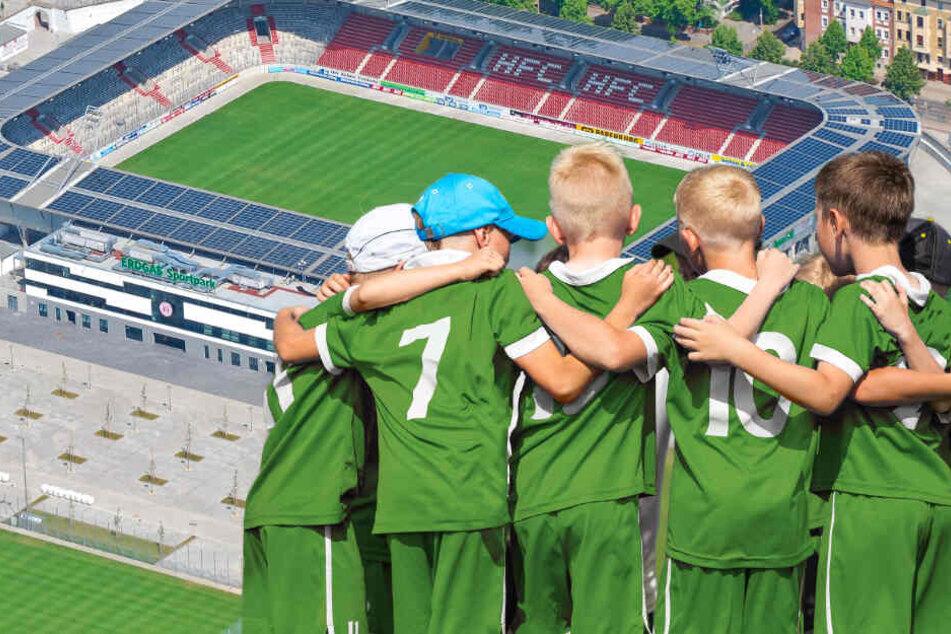 Fußball-Nachwuchsturnier in Halle: Die Kleinen im Stadion der Großen