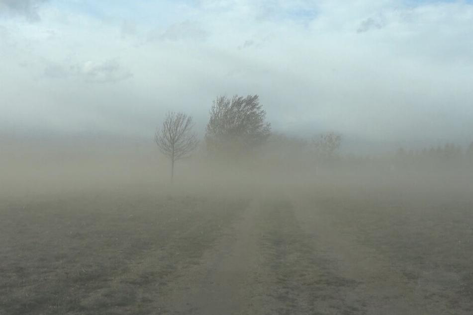 Sandsturm, abgedeckte Dächer, Unfälle, abgesagte Veranstaltungen: Sturm-Chaos in Mitteldeutschland