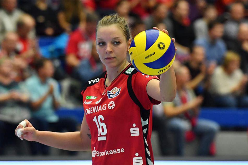 Gegen den VCO Berlin gelang dem Team um Katharina Schwabe ein 3:1-Sieg.
