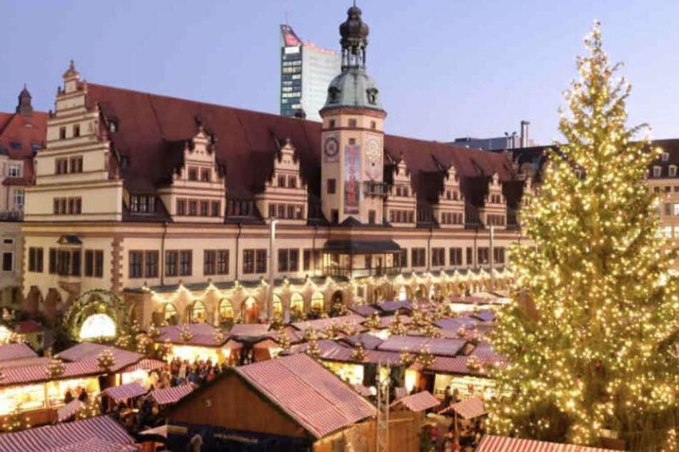 Nicht mehr lang, dann weihnachtet es wieder sehr auf dem Leipziger Marktplatz.