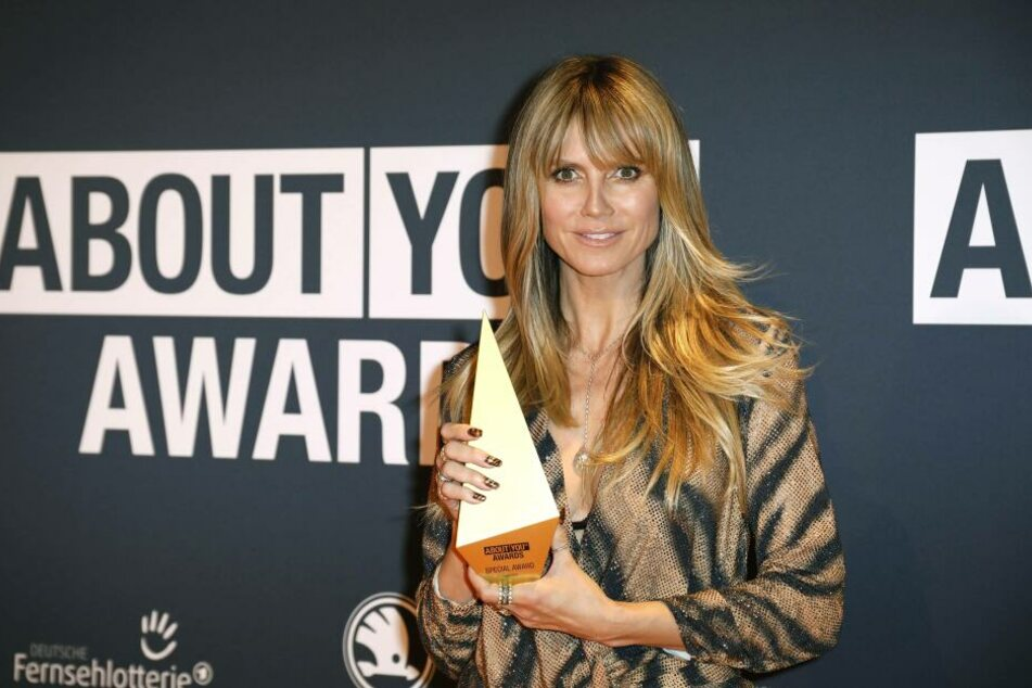 "Heidi Klum bekam in München den Special Award ""Business Achievement"" bei den About You Awards."