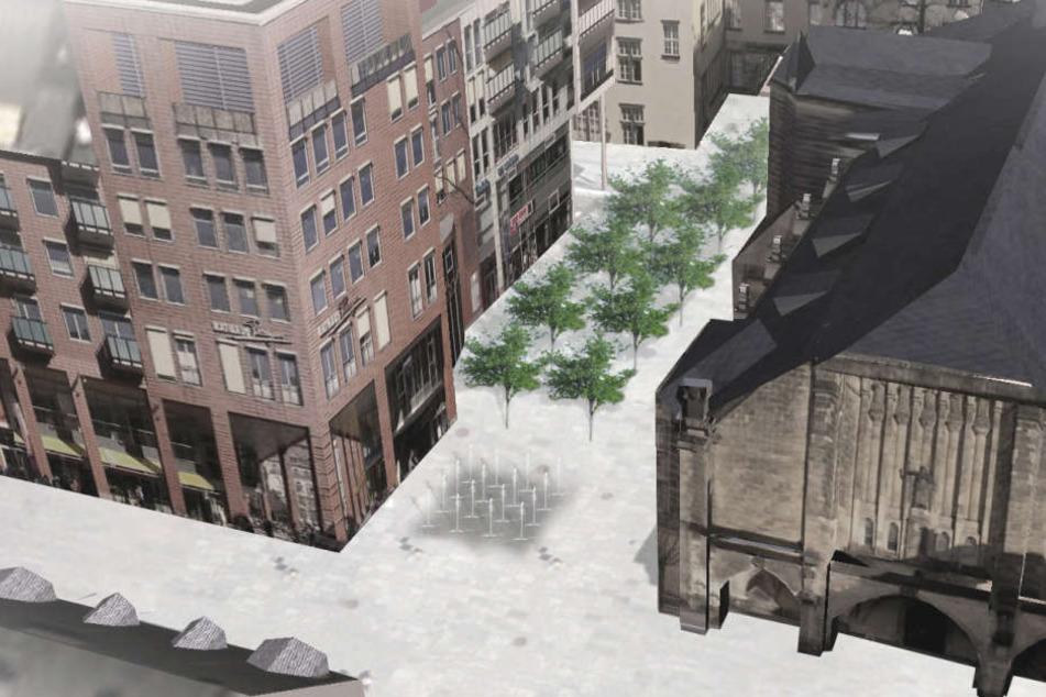 Zehn Fontänen werden im Frühjahr auf dem Jakobikirchplatz sprudeln.