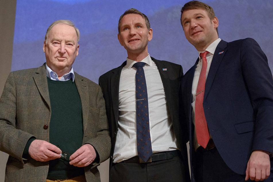 Für die AfD-Politiker Alexander Gauland (76), Björn Höcke (44) und André Poggenborg (41) gibt es momentan wenig Grund zur Freude. Die Wählerzustimmung sinkt weiter.