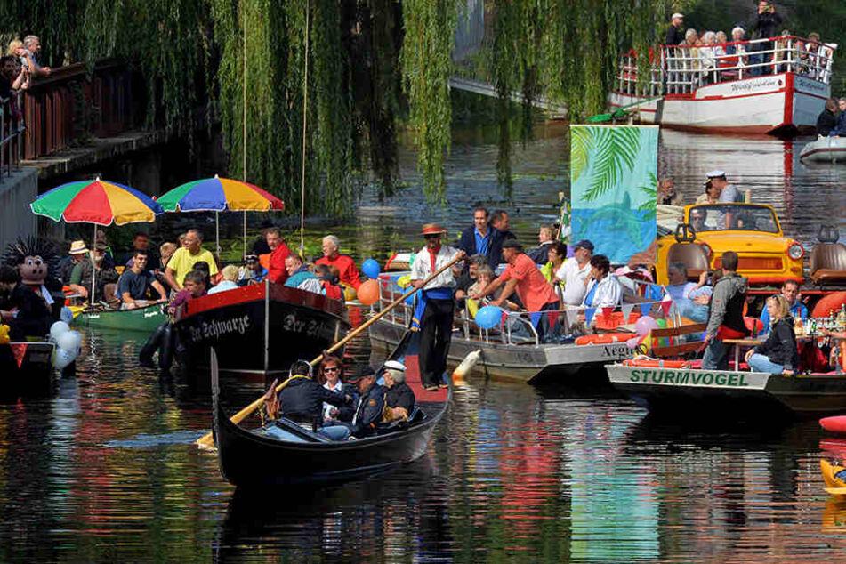 Gerade im Sommer tummeln sich Naherholungssuchende auf den Leipziger Wasserwegen. (Bild: Wasserfest 2014)