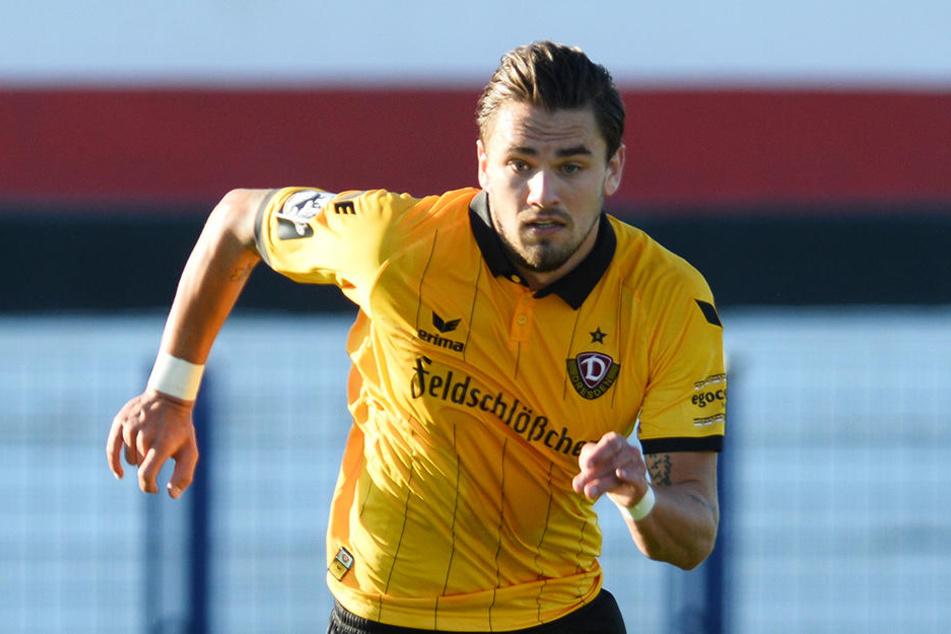 Pascal Testroet möchte mit Dynamo im Trainingslager angreifen.