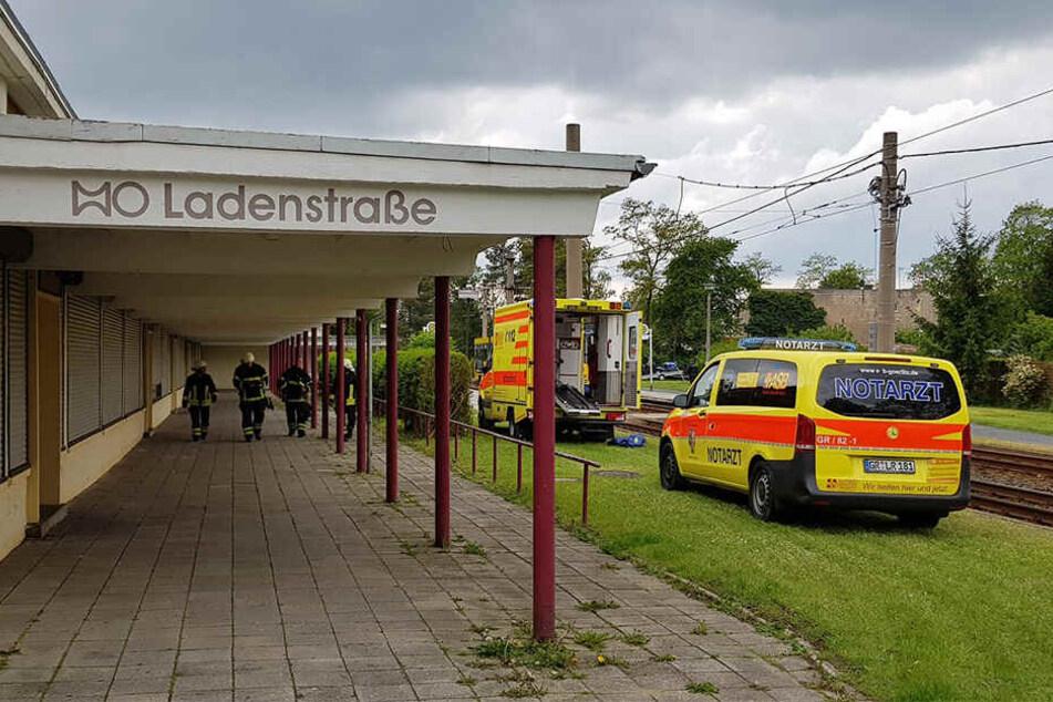Der Unfall ereignete sich an der Haltestelle Ladenstraße.