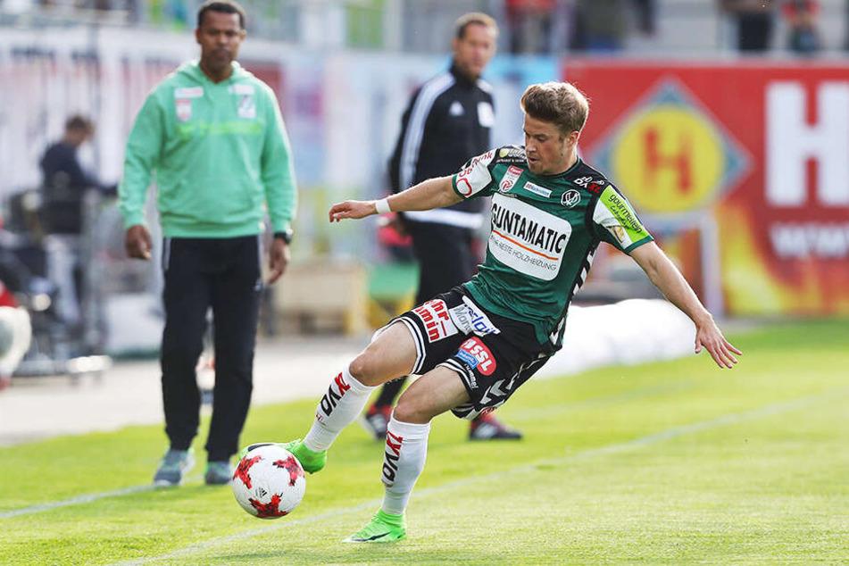 Vor seinem Wechsel nach Dresden kickte Patrick Möschl in Österreich für den SV Ried.